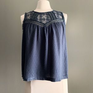 Navy Love Stitch Blouse | Size M